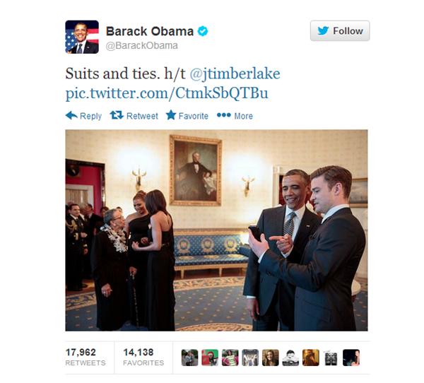 Barack Obama met Suits and ties