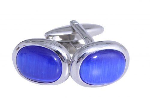 Manchetknopen rond blauw