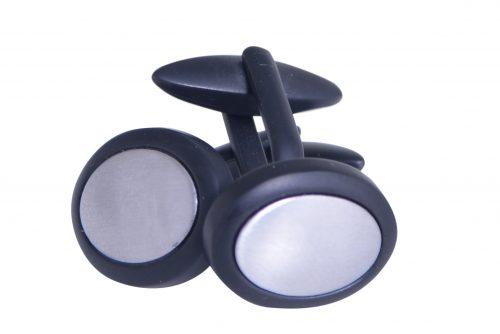 Manchetknopen grijs zwart