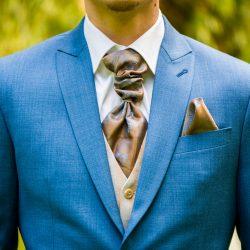 maatpak stropdas blauw trouwpak