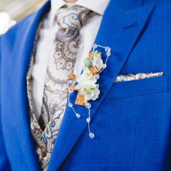 blauw trouwpak