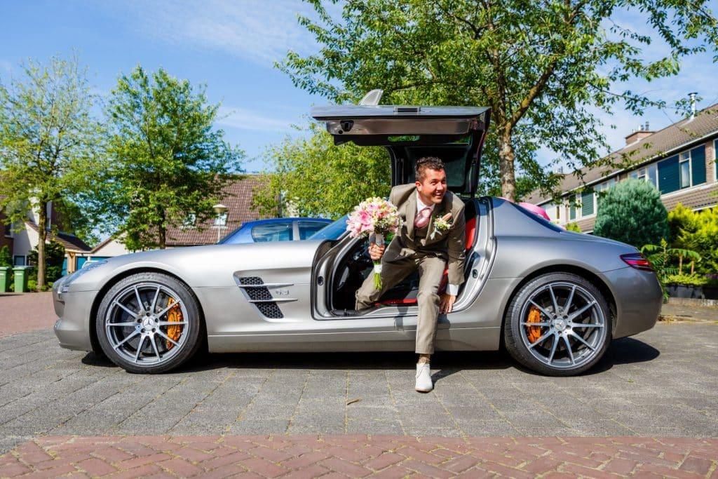 sportwagen als trouwvervoer