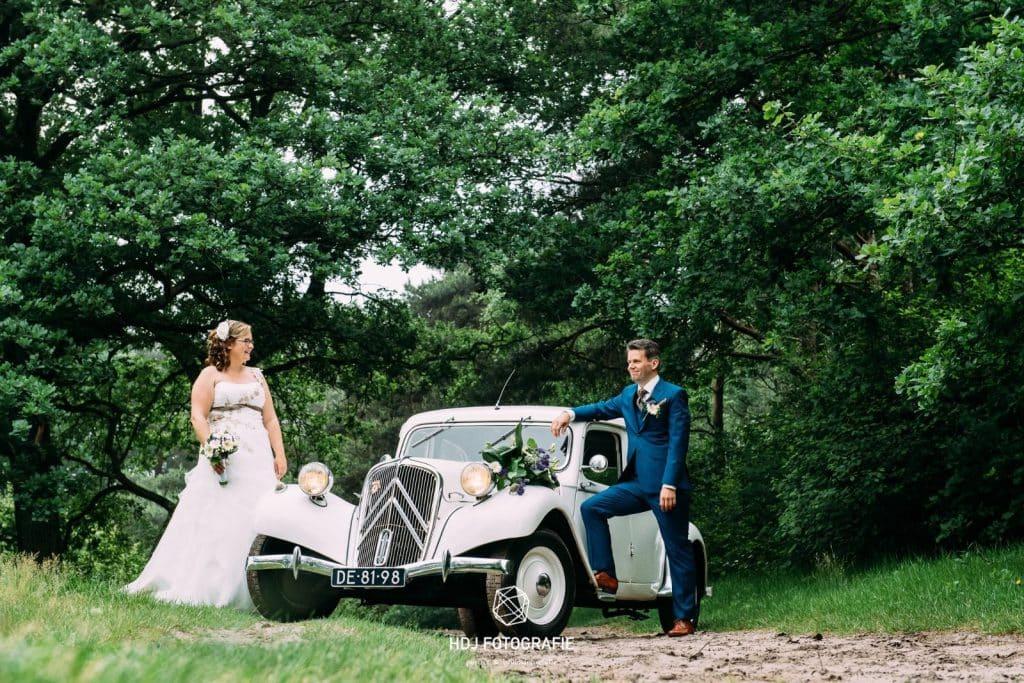 oude auto als trouwvervoer